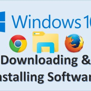 Computer Fundamentals - Install Software in Windows 10 - How to Download Programs on Laptop Computer
