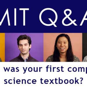 MIT Computer Scientists talk about their first computer science textbook