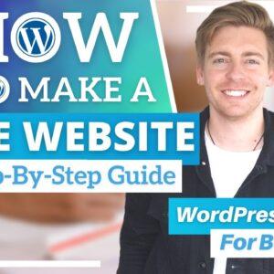 How To Create A FREE Website with WordPress WordPress
