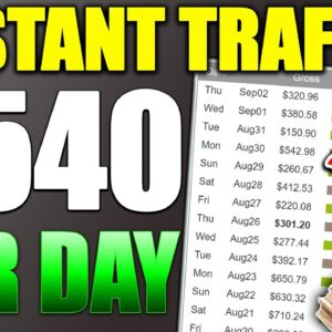 How to Promote CLICKBANK Products With INSTANT TRAFFIC | $540 Per Day